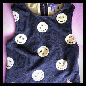 Skull Smiley Zip-Back Crop Top - Kendall & Kylie